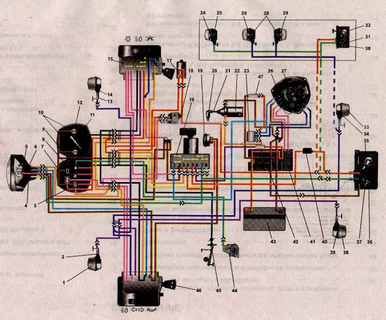 Электрическая схема планеты-5